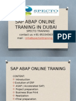 Best Sap Abap Onlinetraining in DUBAI