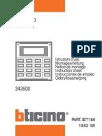 07-342600-Modulo de Llamada Alfanumerico-Instrucciones de Uso