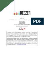 Deezer IPO-filing 22-Sep-2015