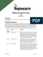 KTAN90006 Modbus Exception Codes