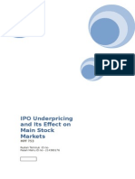 IPO Underpricing and Its Effect on Main Stock Markets.docx