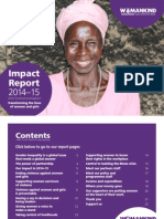 Womankind Worldwide Impact Report 2014-15