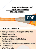 21st Century Challenges of Strategic Marketing Management