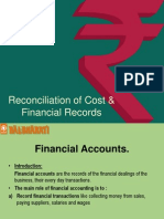 Chapter 3 Reconciliation of Cost Financial Records