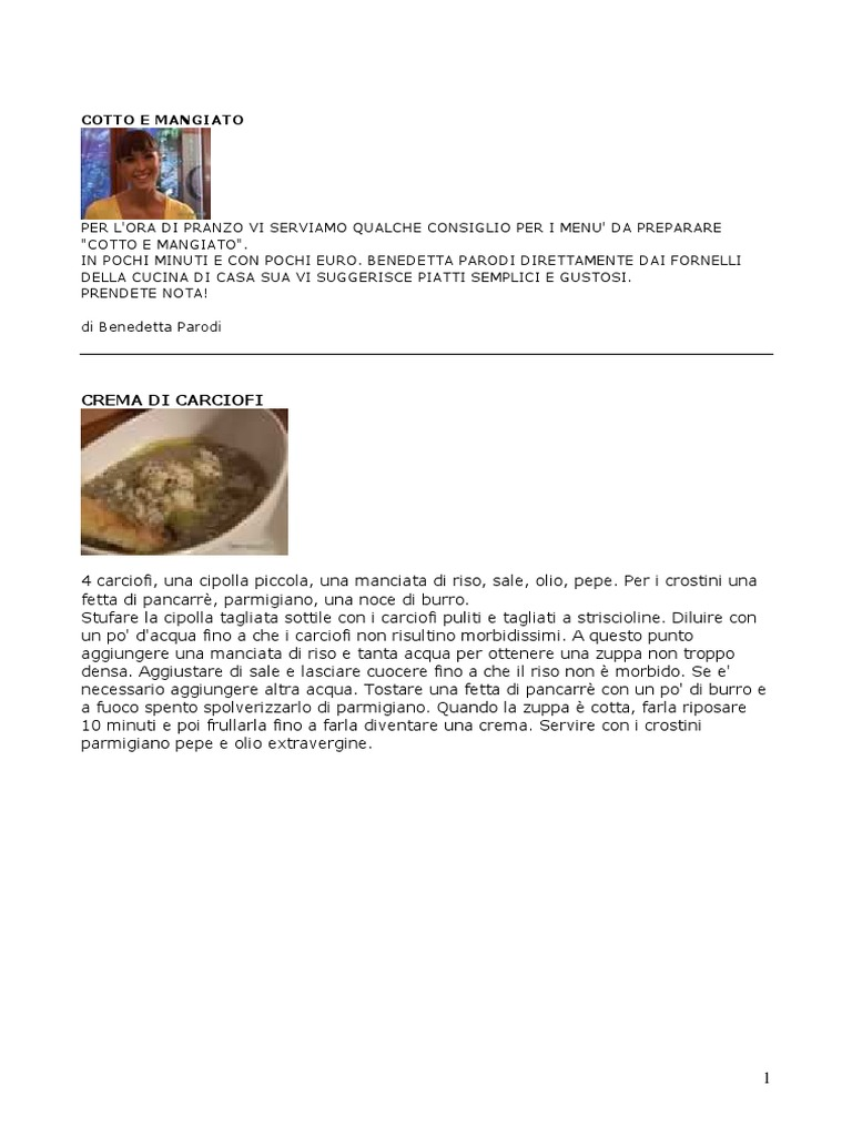 Benedetta Parodi - Cotto E Mangiato - c