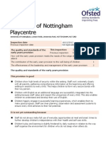UoN Playcentre Offsted Report