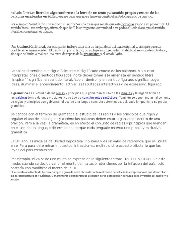 Del Latín Gramática Traducciones