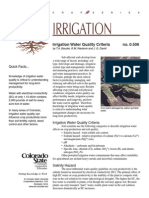 Irrigation Water Quality Criteria