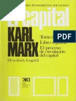Karl Marx, El Capital. Tomo II. El Proceso de Circulación Del Capital. Vol. 5