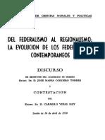 Del Federalismo Al Regionalismo (1970)