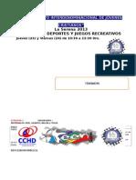 ACTIVIDADES DEPORTIVAS Y RECERACION -CAMPAMENTO INTERDENOMINACIONAL DE JÓVENES CRISTIANOS.docx