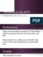 research in the myp