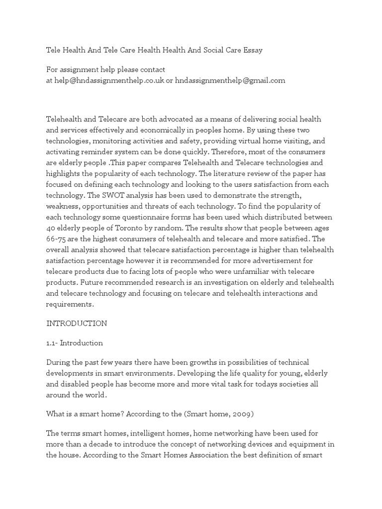 tele health and tele care health health and social care essay  tele health and tele care health health and social care essay  patient  health  care