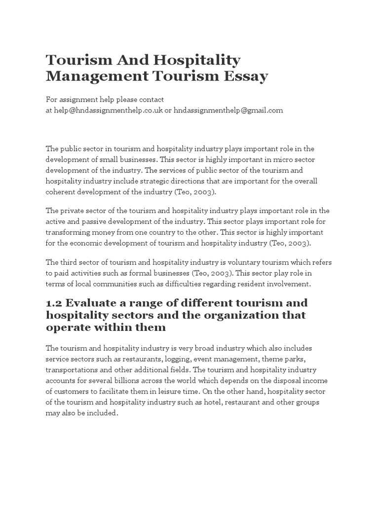 tourism and hospitality management tourism essay  quantitative  tourism and hospitality management tourism essay  quantitative research   tourism