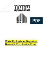 Wake Up Pakistan Organizer Demands Clarification From Zaid Hamid