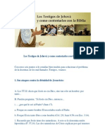 Los Testigos de Jehová y Como Contestarles Con La Biblia