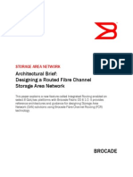 Designing a Routed Fibre Channel Storage Area Network