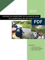 Informe de Monitoreo Huaycoloro
