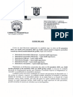 17 Sept 2015Comunicare Concurs Pentru Ocuparea Posturilor Vacante de Grefier 3 6 Noiembrie 2015