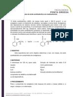 PRATICA 4Determinação de ácido acetilsalicílico em medicamentos