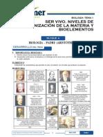 Bio_S1_SER VIVO, NIVELES DE ORGANIZACIÓN DE LA MATERIA Y BIOELEMENTOS.pdf