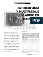Estereofonia y Multiplexaje de Audio en Televisión