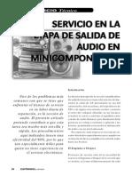 Servicio en La Etapa de Salida de Audio en Minicomponentes