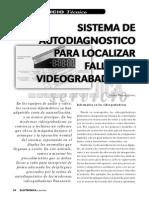 Sistema de Autodiagnóstico Para Localizar Fallas en Videograbadoras