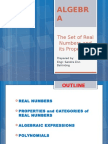 The Set of Real Numbers and Its Properties