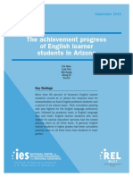 The Achievement Progress of English-learner Students in Arizona