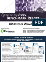 Marketing Analytics Benchmark Report