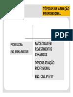 PERICIAS 3 - Patologia Em Revestimentos Ceramicos