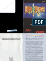 The Lord of the Rings Volume 1 Manual SNES