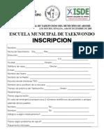 Inscripcion y Responsiva de La Esc. Mpal.de Tkd.- 2005