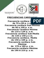 FRECUENCIAS CARDIACAS