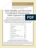 14. Ankle Stability Movement Coordination Impairments Ankle Sprain September 2013
