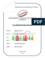 Percepcion Social