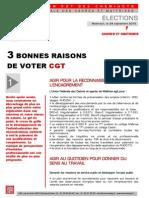 3 Bonnes Raisons de Voter Cgt