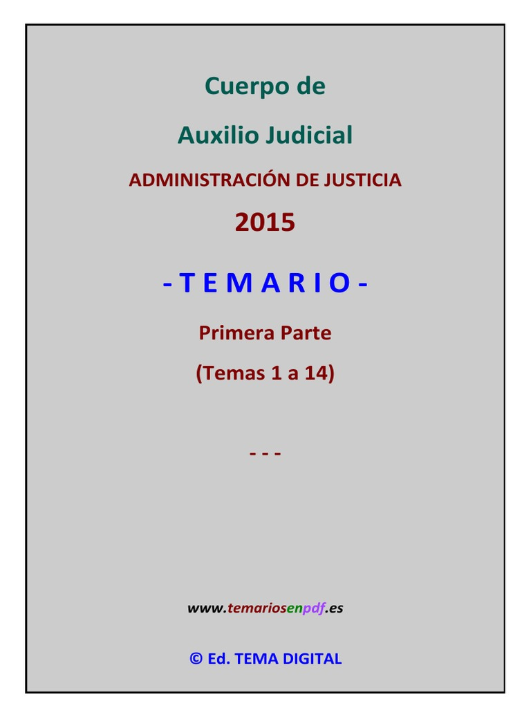Muestra Temario Auxilio Judicial 1