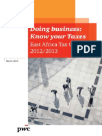 2013 East African Tax Guide