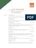 Grace Howard resume 2015