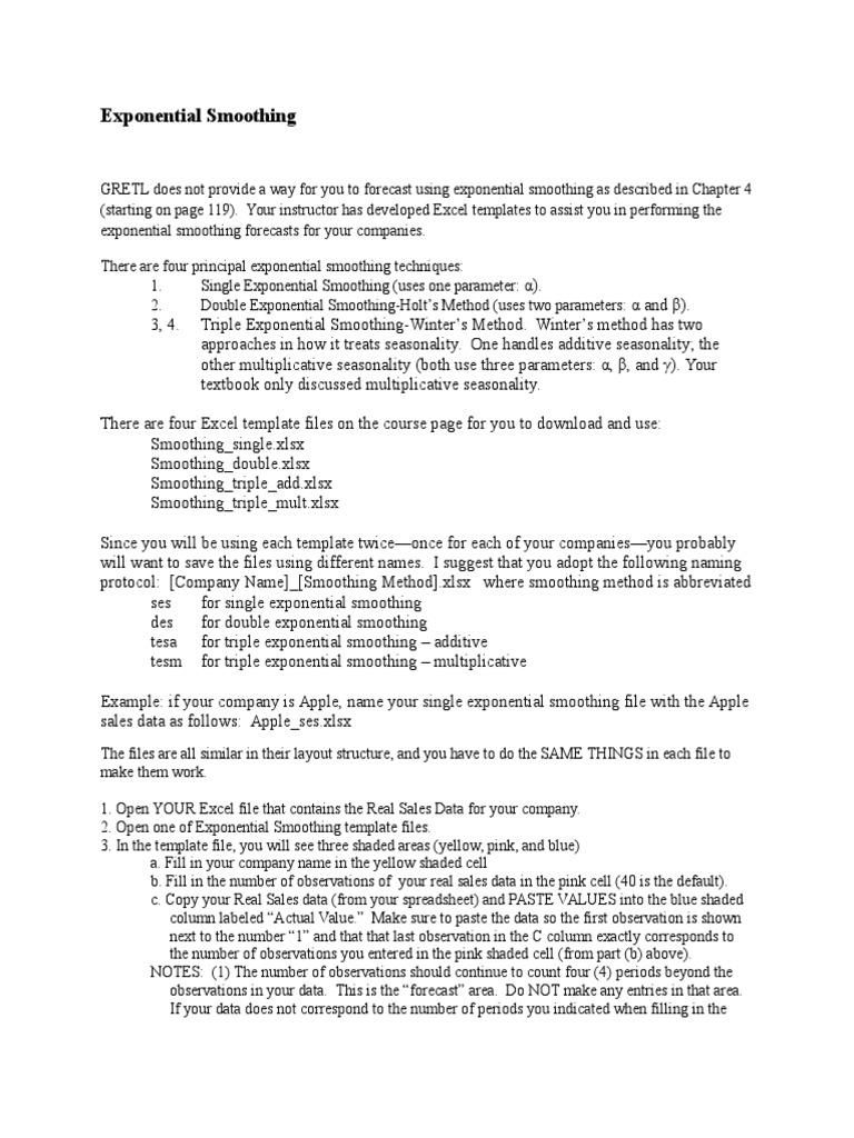 Exponential Smoothing | Forecasting | Mathematics