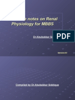 Lecture Notes on Renal Physiology for MBBS