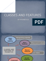 Classes and Features of Phonetics