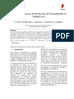 Análisis del Proceso de Producción de Formaldehido en PIZANO S.A