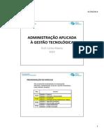 Administração Aplicada à Gestão Tecnológica - Cap. 4