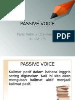 Mengubah Kalimat Menjadi Passive Voice