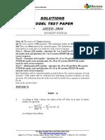 Aieee Model Test Paper 2010 Solution