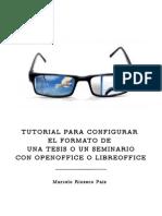 Libre office - configuracion para tesis