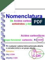 ACIDOS CARBOXILICOS Y COMPONENTES